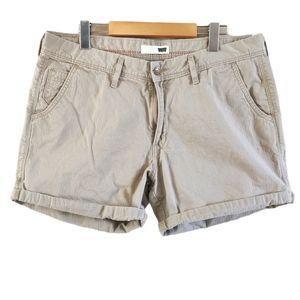 Levi's Khaki Roll Cuff Shorts Tan 14